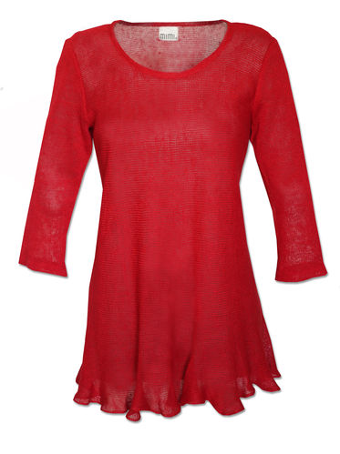 Anna tunic red