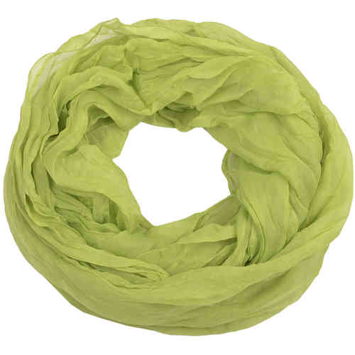 Chiffon Crinkle Snood green