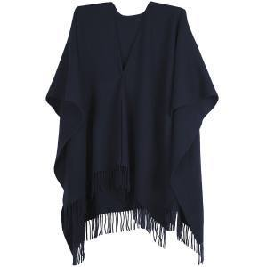 Wool cape black