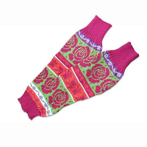 Leg warmers multicolor, merino wool