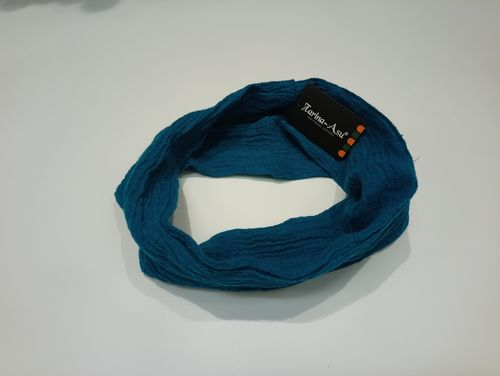 Linen snood scarf turquoise