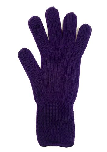 Purple merinowool gloves