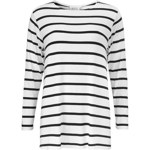 Delfa top with black and white stripes